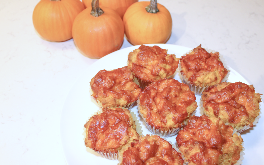 Pumpkin Cheddar Savoury Muffins
