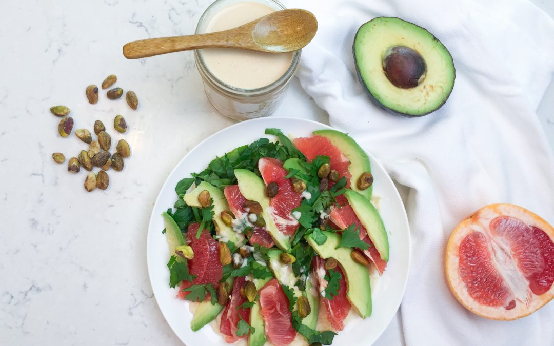 Avocado Grapefruit Summer Salad (+ Tahini Dressing Recipe!)