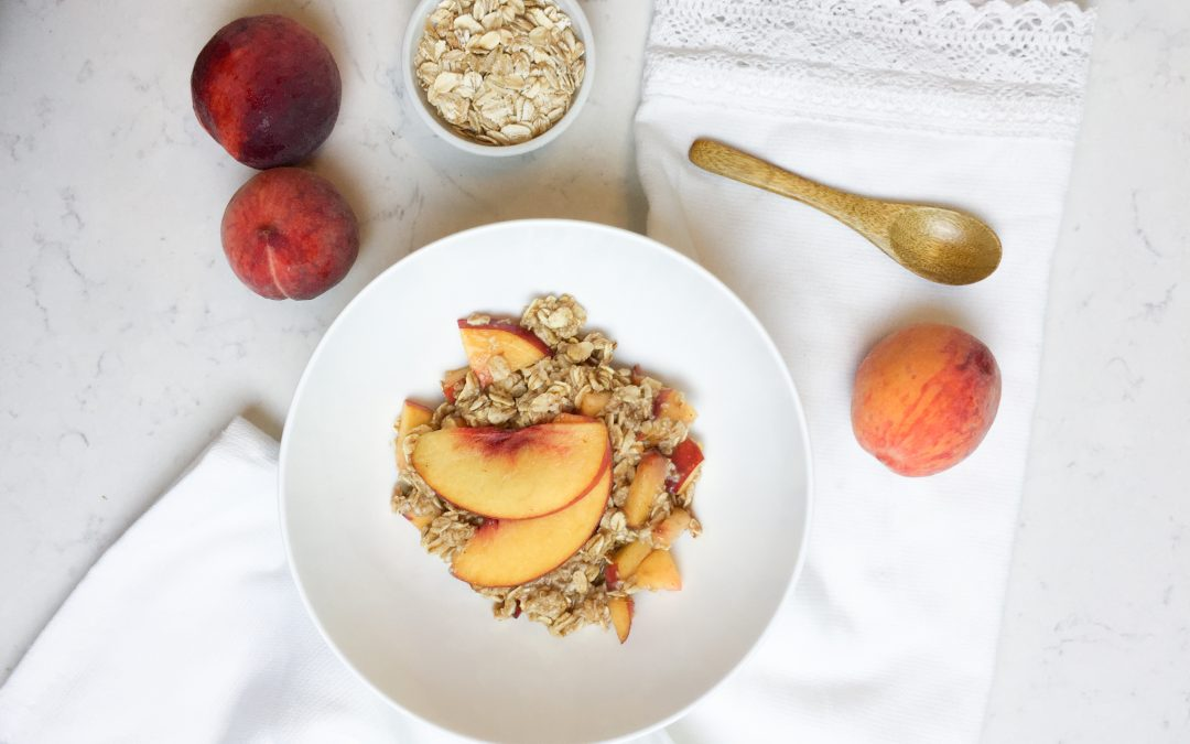 'Peach Cobbler' 3-Minute Oatmeal