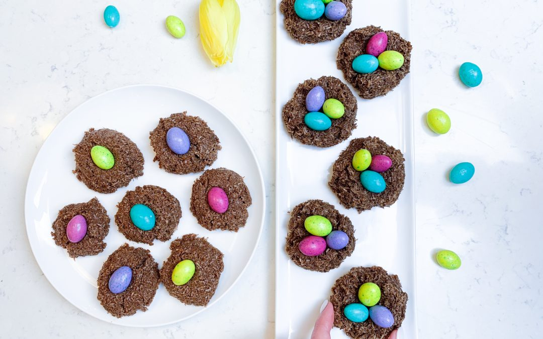 Easter Macaroon Nests Two Ways (Vegan + Gluten Free)